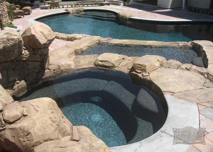Residential landscape contractor custom swimming pool for Swim spa in garage